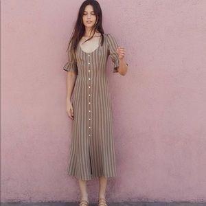 Christy dawn Lennon dress bronze striped XS